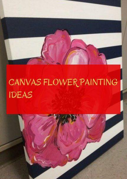 canvas flower painting ideas