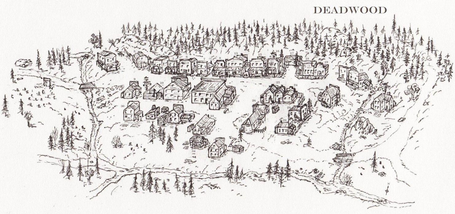 town map deadwood - Google Search | Deadwood in 2019 | Map, Fantasy Deadwood Hotel Map on