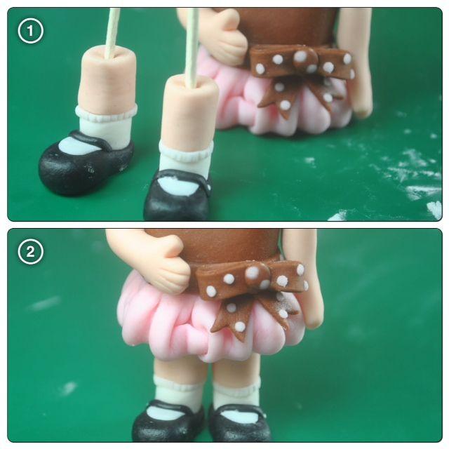 Bake Happy Fondant Figures Tutorial Little Girl