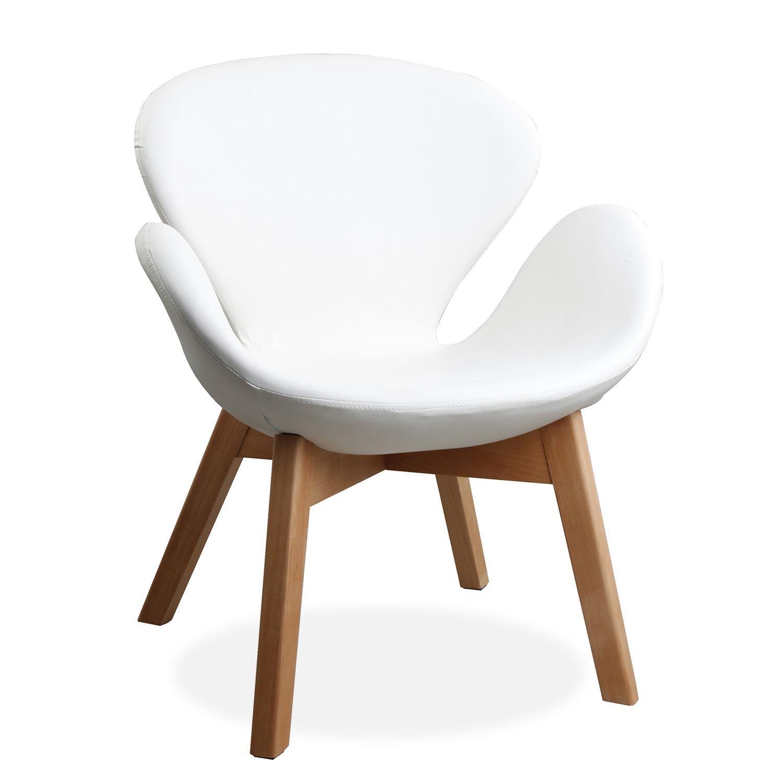 silln swan wood arms tapizado pu salon pinterest butacas sillas y comedores