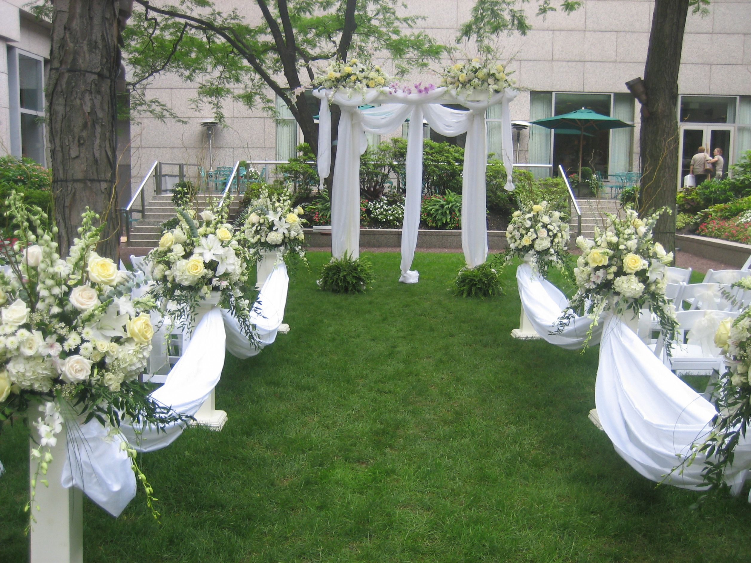 Outdoor garden wedding decoration ideas  Creative of Outdoor Wedding Ceremony Ideas Charming Small Backyard