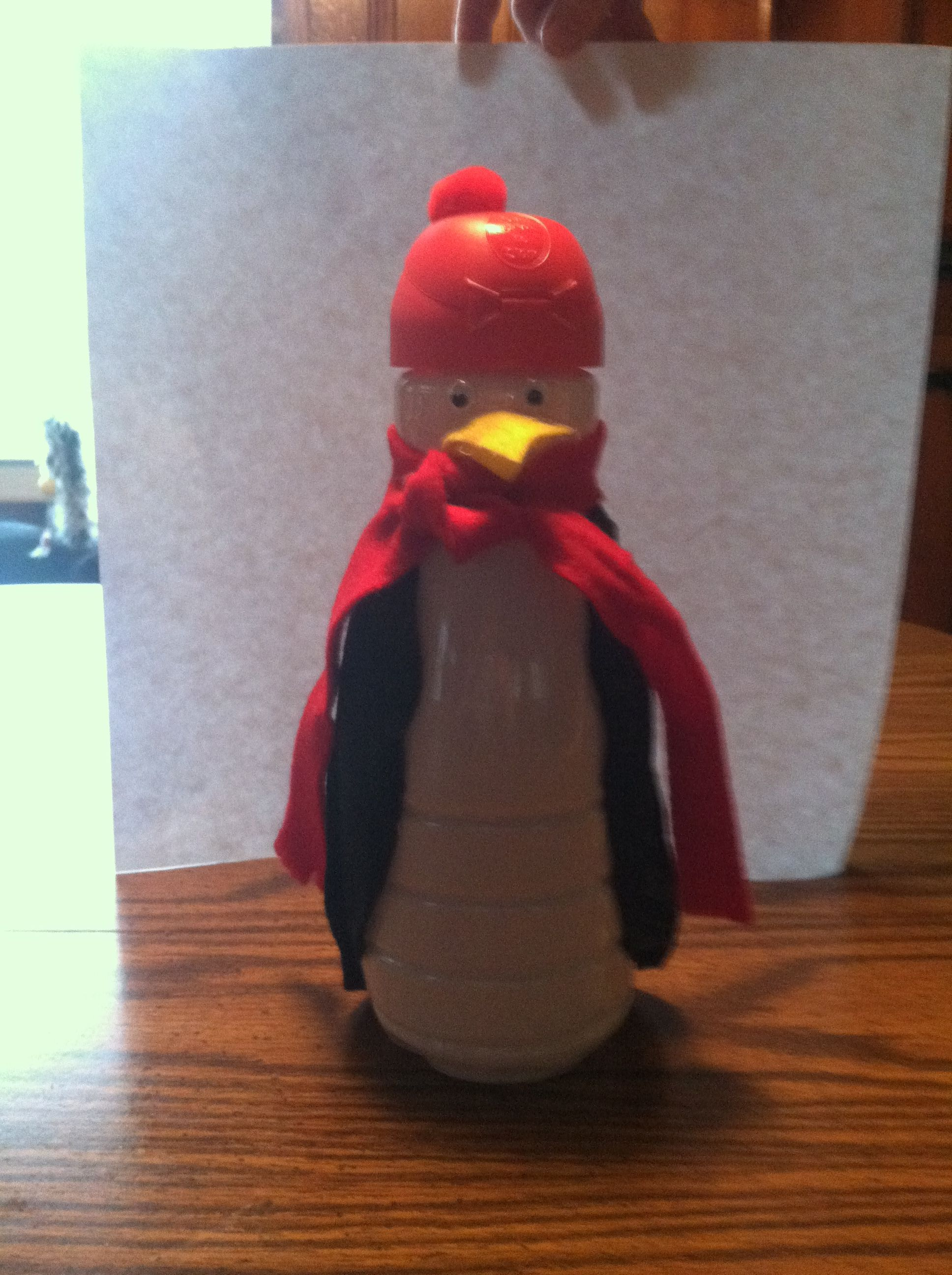 penguin from coffee mate bottle | Coffee creamer crafts ...