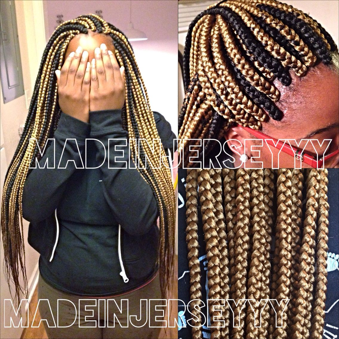 Box braids with color
