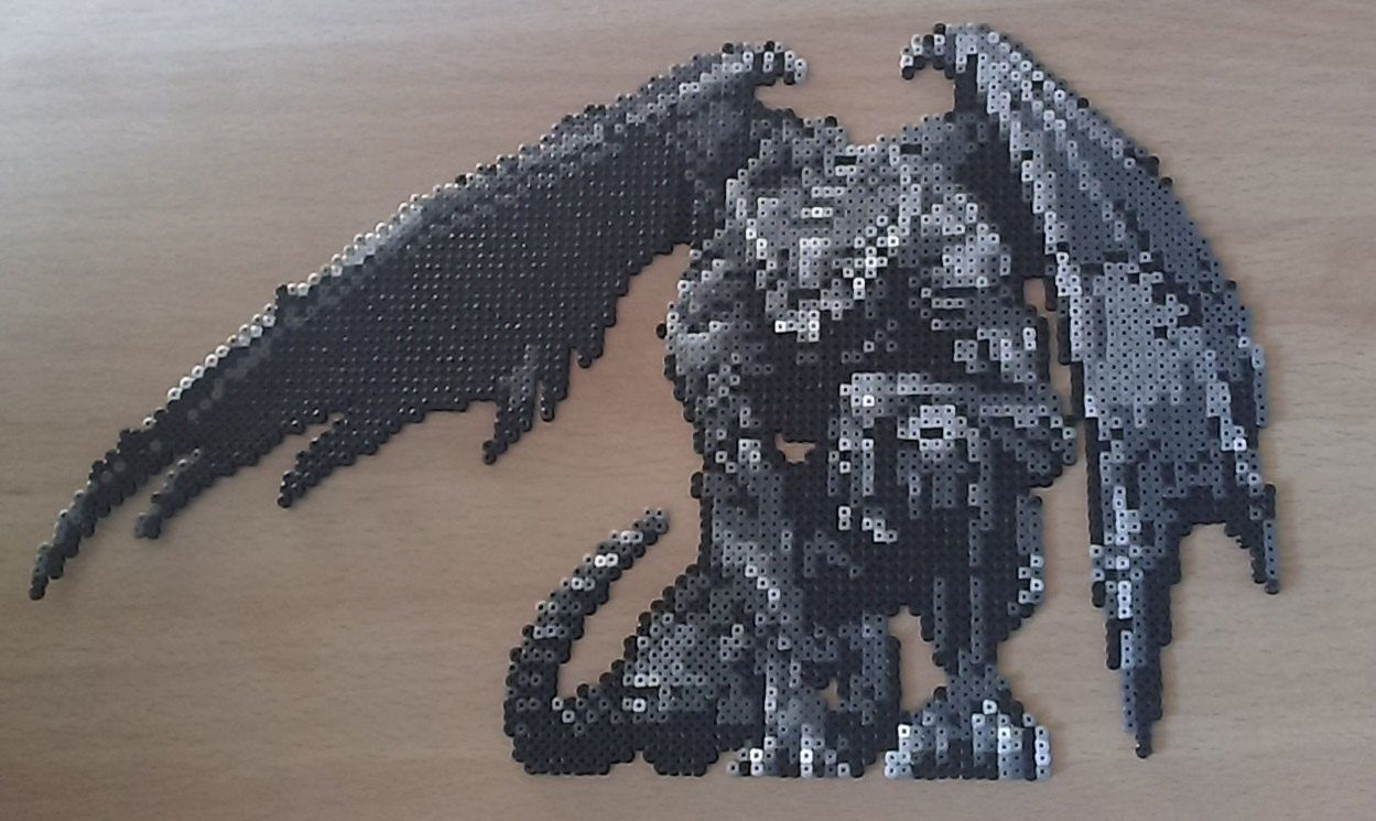 """HandMade Castlevania """"Petrified"""" Bead Sprite. by PixelBeadPictures on Etsy https://www.etsy.com/listing/230958881/handmade-castlevania-petrified-bead"""