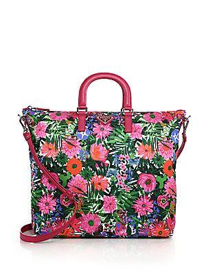 0b8f75a54844 Prada Floral-Print Nylon Tote LOVE IT!!!