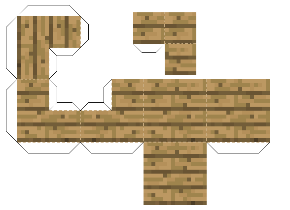 Papercraft Oak Wood Corner Stair Minecraft Printables Paper Crafts Minecraft Designs