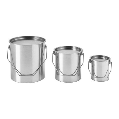 HEMSMAK Set di 3 secchi con coperchio - IKEA | wishlist | Pinterest ...