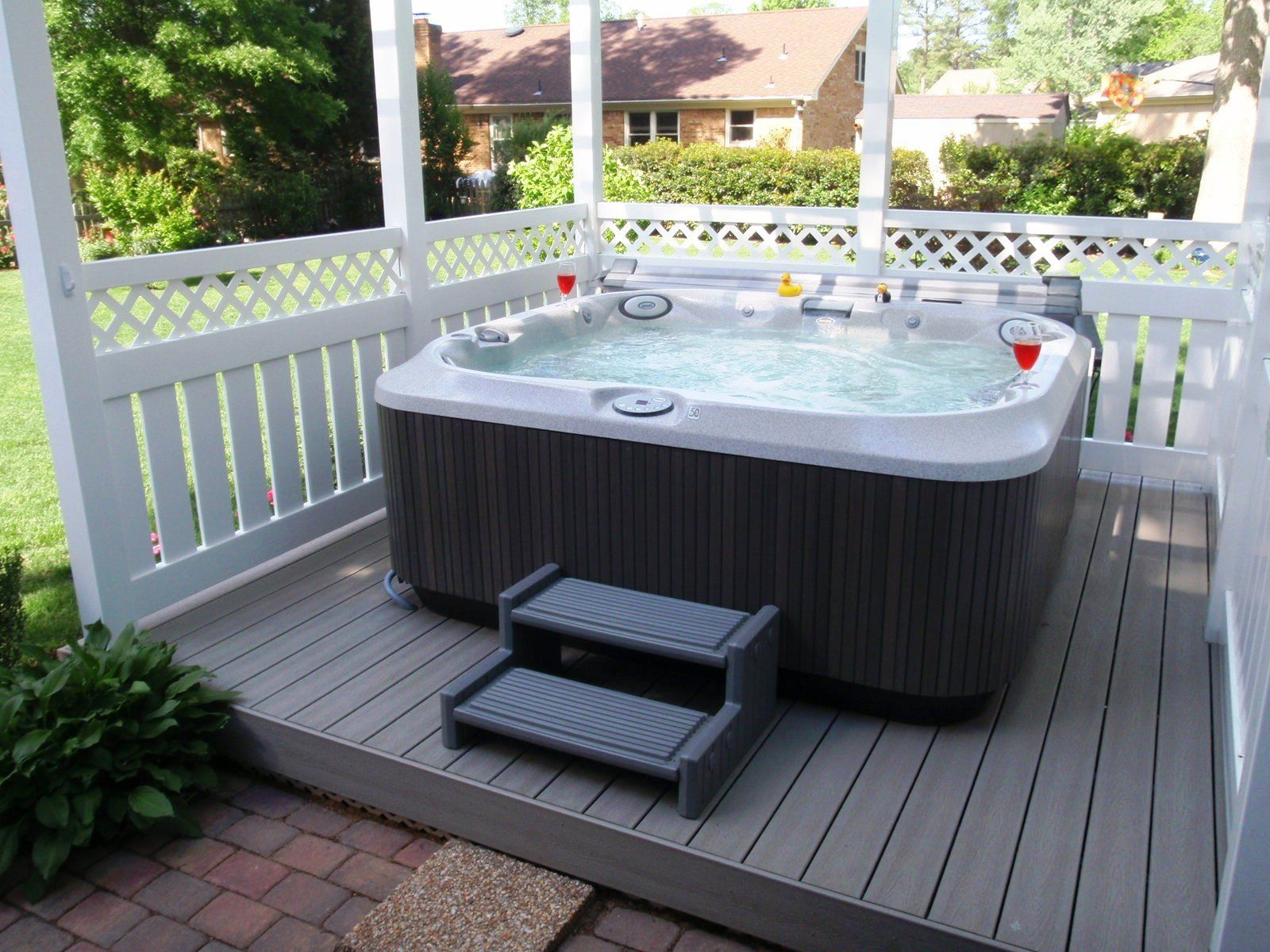 Hot tub on the deck | Deck decor | Pinterest | Hot tubs, Tubs and ...