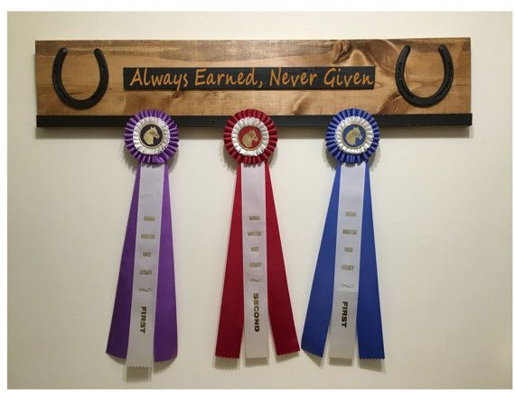 Wooden Show Ribbon Display Hanger by TackRoomCrafts on Etsy