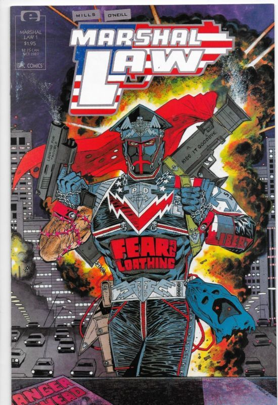 Marshal Law #1 Epic Comics Pat Mills NM-
