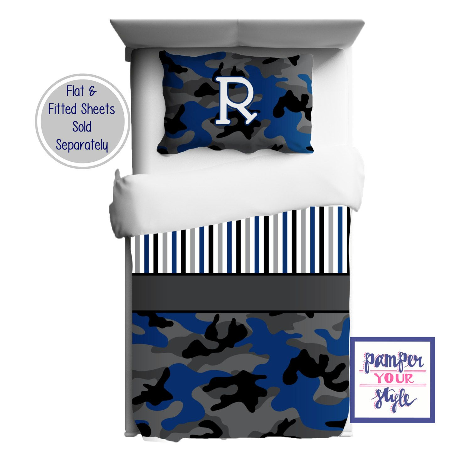Personalized Camo Duvet Or Comforter Kids Camouflage
