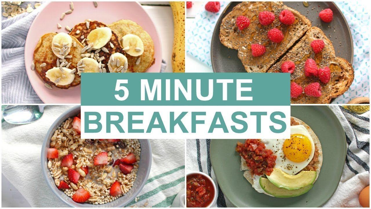 Easy 5 Minute Breakfast Recipes Healthy Breakfast Ideas Youtube Breakfast Recipes Easy Yummy Healthy Breakfast Healthy Breakfast Recipes Easy