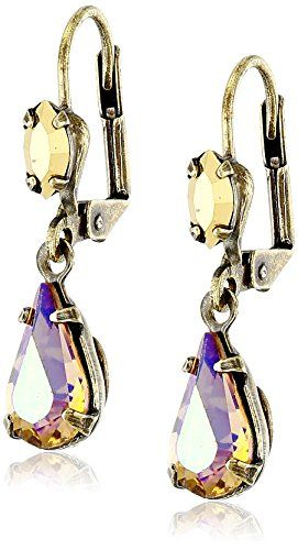 ON SALE now at http://JewelryDealsNow.com/?a=B00IFWDL10 : Sorrelli Petite Crystal Teardrop Antique Drop Earrings