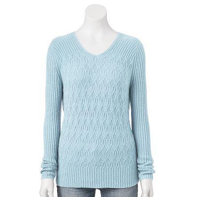 Croft & Barrow® Cable-Knit Sweater - Women's