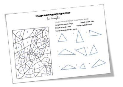 Coloriage magique sur les triangles ce2 coloriage - Coloriage magique maths ce2 ...