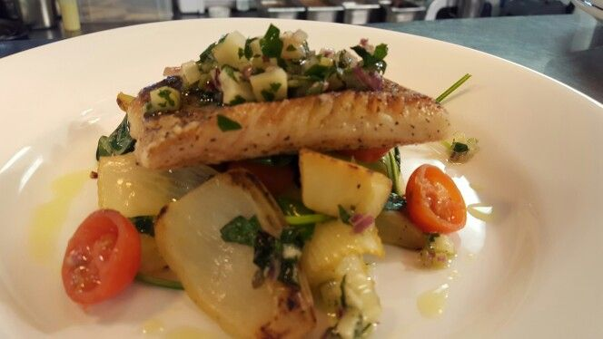 Ashmolean Dining Room In Oxford Oxfordshire Pan Fried Pollock W Braised Fennel