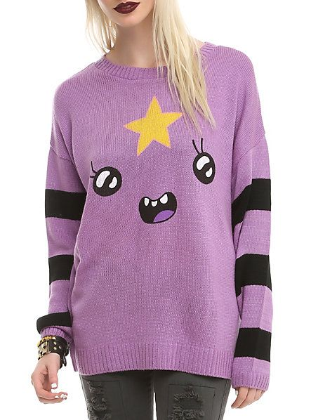 Adventure Time Lumpy Space Princess Girls Sweater   Hot Topic