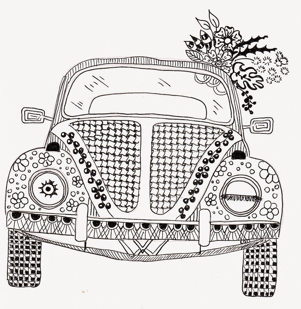 Mandala Ausmalbilder Auto : Efie Goes Zentangle Ben Kwok Volkswagen Coloring Pages