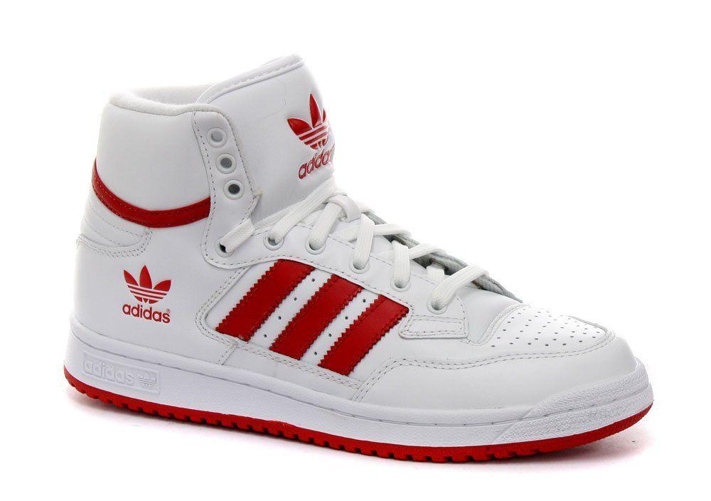 the best attitude f2775 49651 Amazon.com: Adidas Originals Centennial Mid White/Red Mens ...