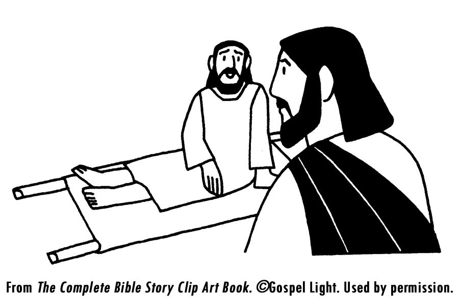 A12 Jesus Healed Man Lowered Through Roof Bible Jesus
