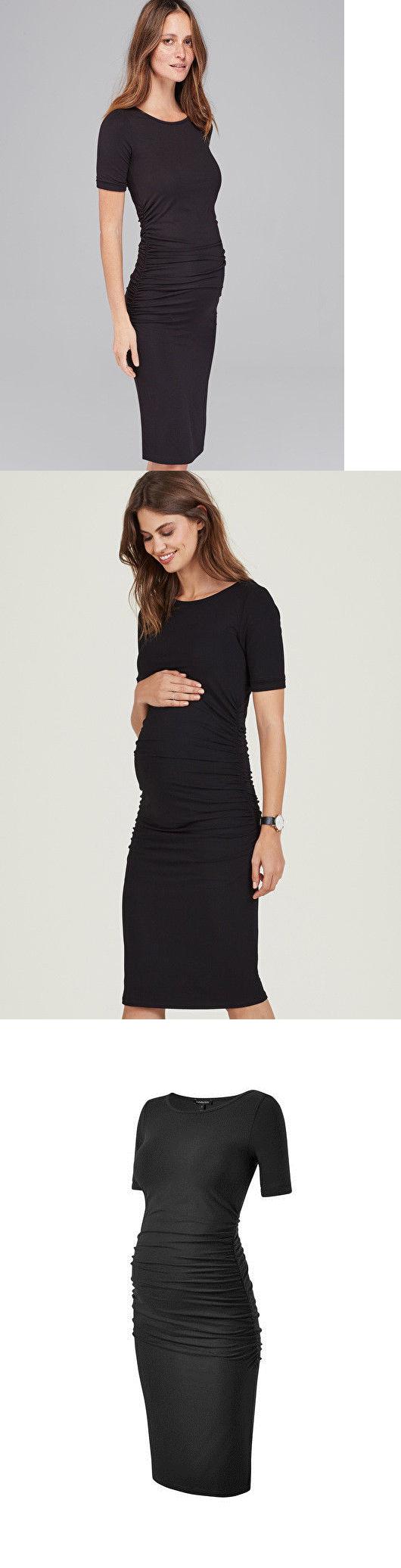 Dresses 11534 new isabella oliver ruched t shirt maternity dress dresses 11534 new isabella oliver ruched t shirt maternity dress in black ombrellifo Images