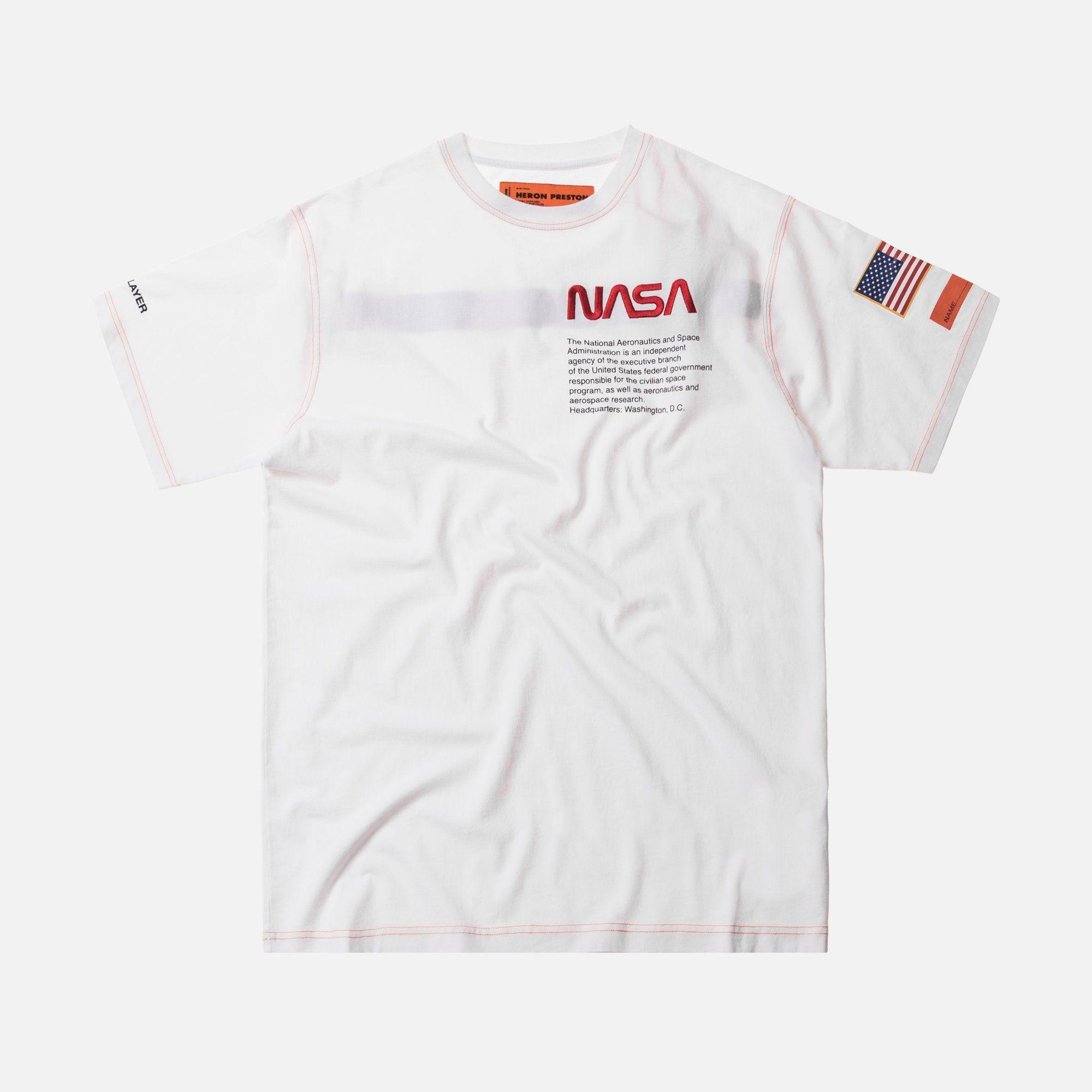 7a8d81c83 Heron Preston x NASA Jersey Tee - White / Orange – Kith   Graphics ...