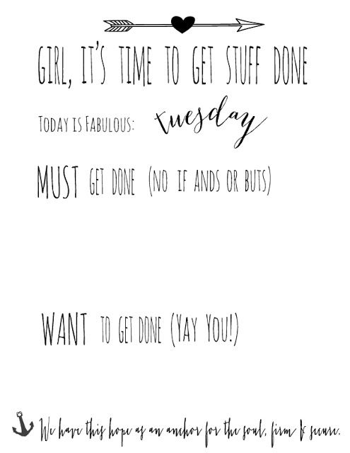 Daily Grace // Simple Joy // Aedriel.com: Girl, It's Time To Get Stuff Done Free Printable
