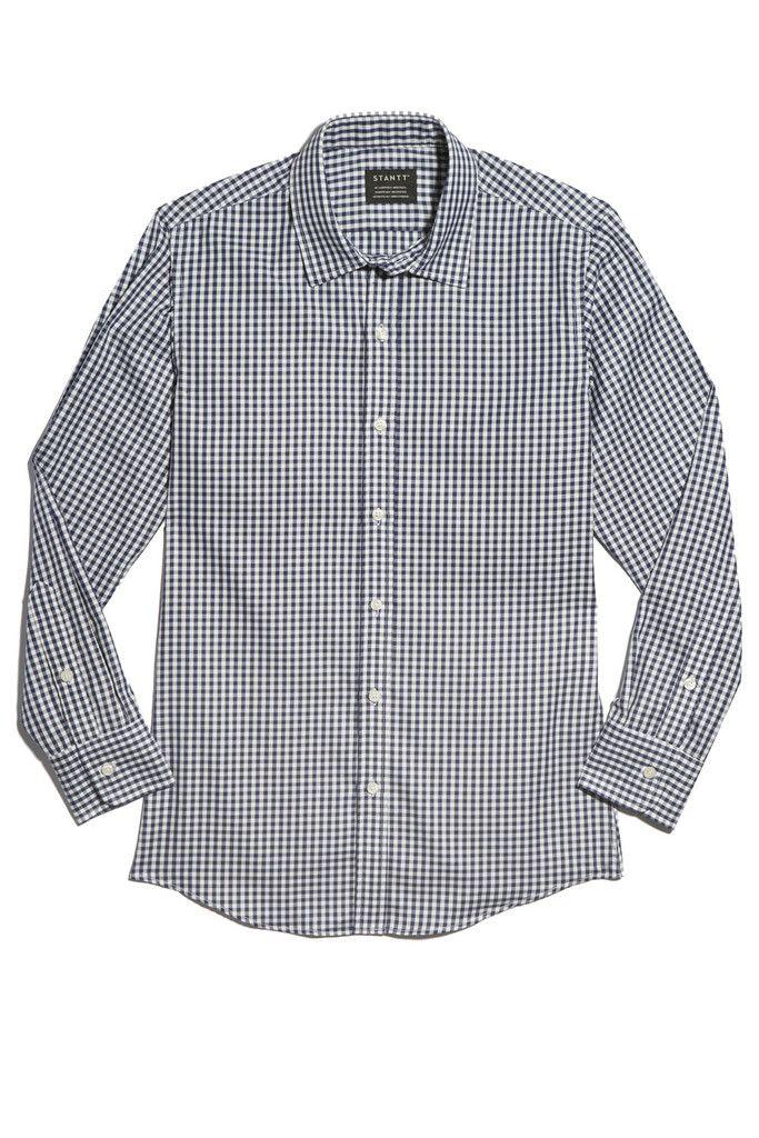 Navy Gingham, Stantt | For Others | Bespoke shirts, Custom