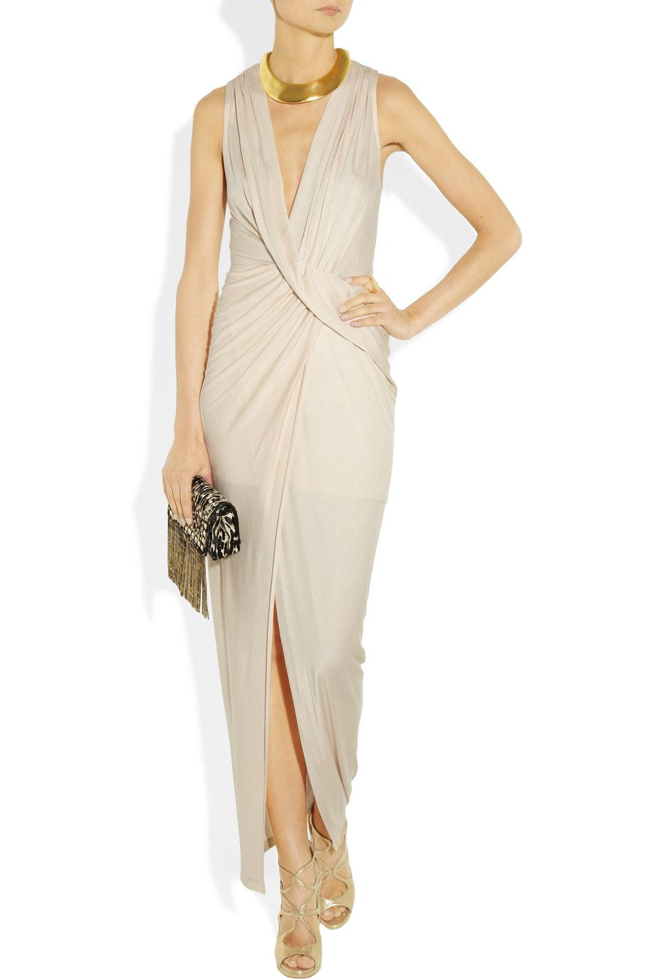 I don't know why, but I want this!  Haute Hippie Draped jersey wrap-effect dress NET-A-PORTER.COM