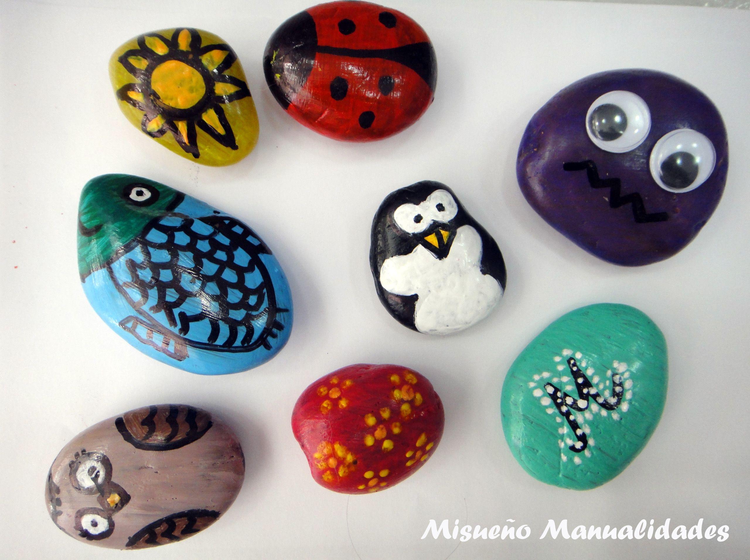 Piedras decoradas con pintura acr lica for Pintura para pintar piedras