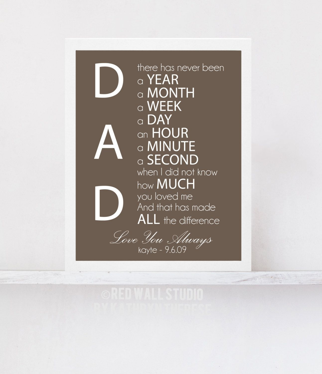 Father Of The Bride Gift Personalized For By Redwallstudio 20 00