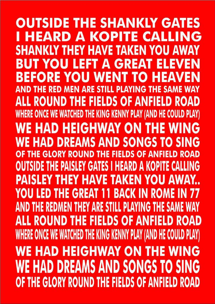 Lyric lyrics you ll never walk alone : Favourite Football Song Chant - Liverpool - Fields of Anfield Road