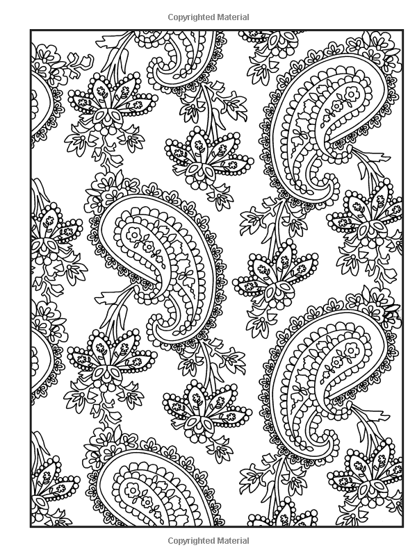 Creative haven crazy paisley coloring book dover design coloring books kelly a