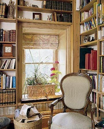 Small home library designs bookshelves for decorating for Mini library at home