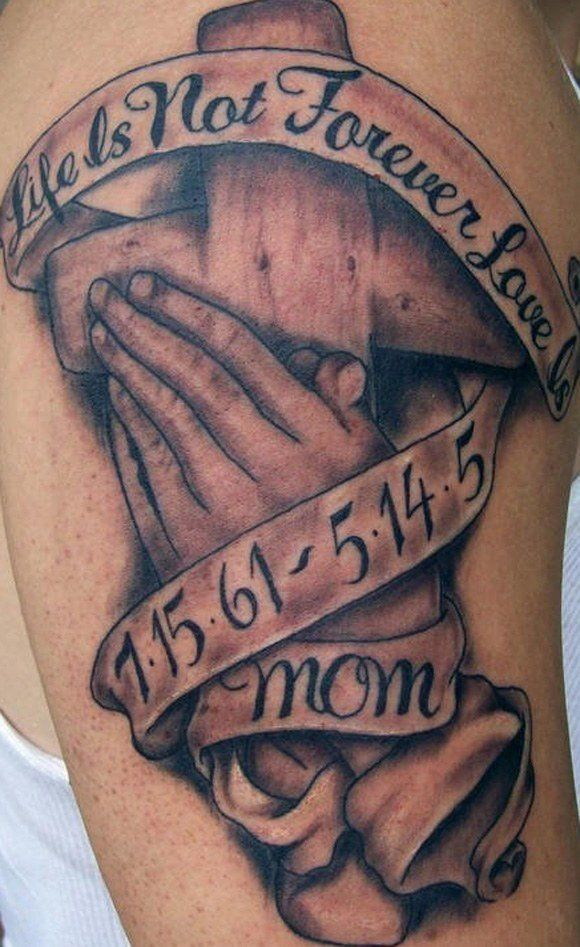 65e9c3a73 I'm not into the cross and prayer hands but I love the words. Find this Pin  and more on Tattoos ...
