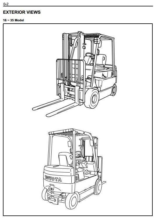 Toyota Electric Forklift Truck 7fbmf16 18 20 25 30 35 40 45 50 Workshop Service Manual Toyota Forklift Trucks