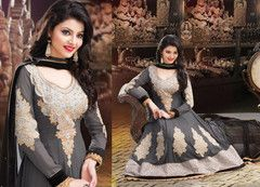 PartyWear Embroidered  Faux Georgette Salwar Kameez Dress Material 208  New Arrival Free Shipping + Free Cash On Delivery With 15% Discount Use Promo Code - Fashion15