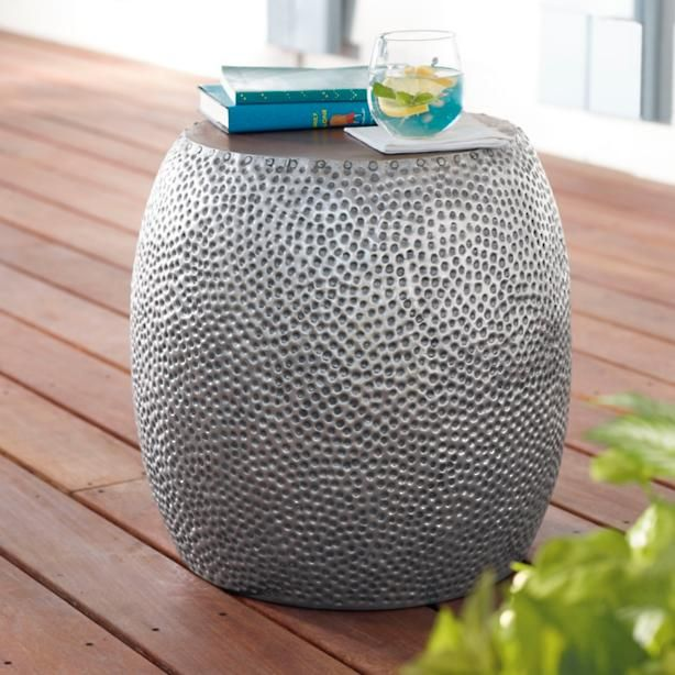 A Hammered Aluminum Body Gives The Kingston Outdoor Side Table Extra  Texture, Cool Looks,