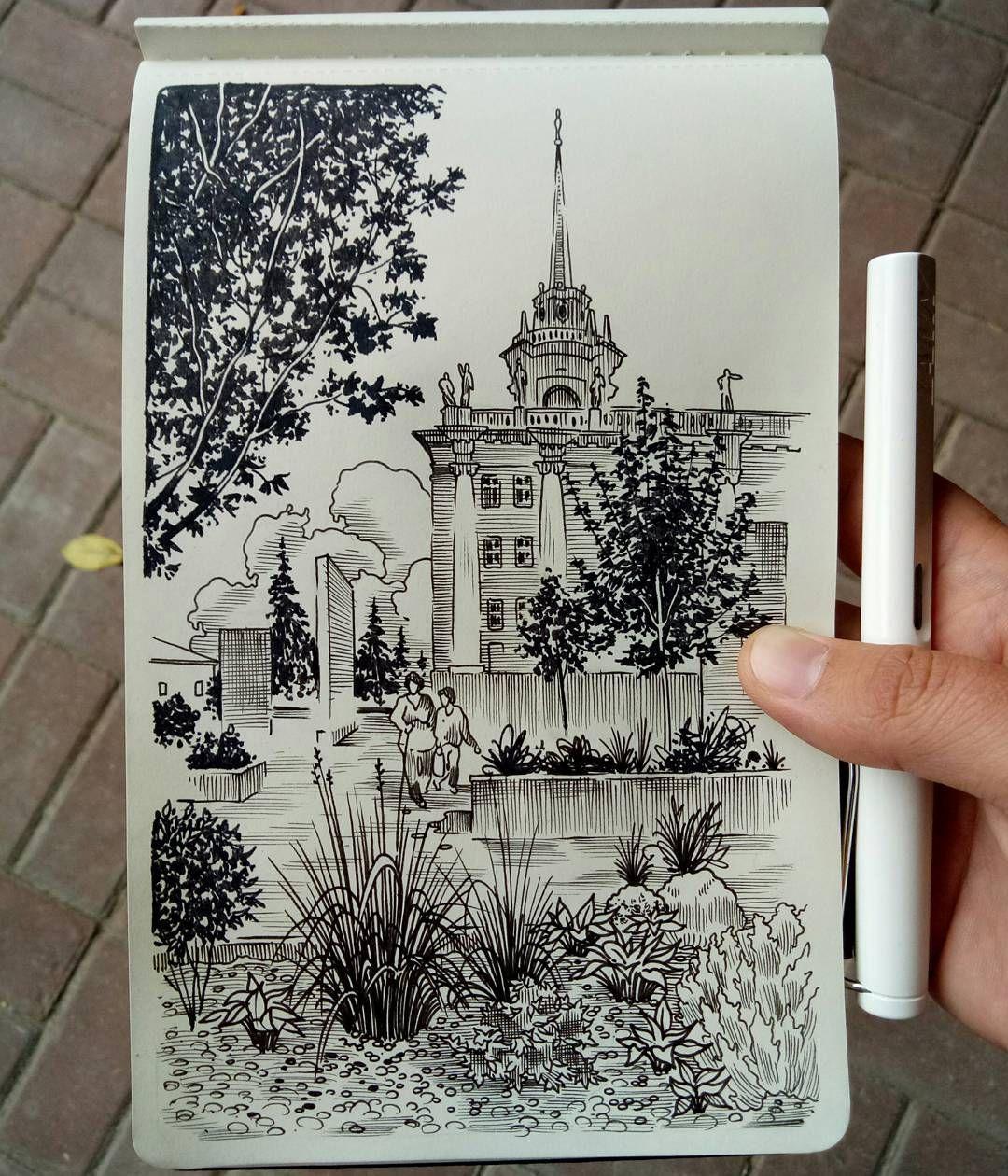 Sketch V Centre Goroda Sketch Risunok Grafika Sketch Sketchbook Moleskine Moleskine Arts Moleskin Risovani Pen Art Drawings Ink Pen Art Line Art Drawings