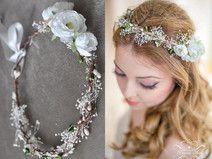 Blumenkranz Boho Hochzeit Blumen Haarschmuck Kranz Flower Crowns