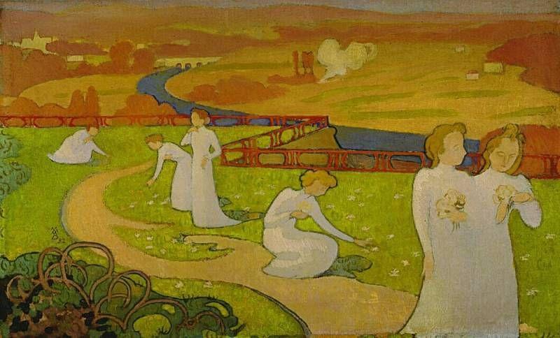 Maurice Denis, Avril (panneau pour une chambre de jeune fille), 1892