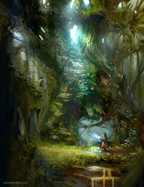 Magical Space Fantasy Landscape Fantasy Forest
