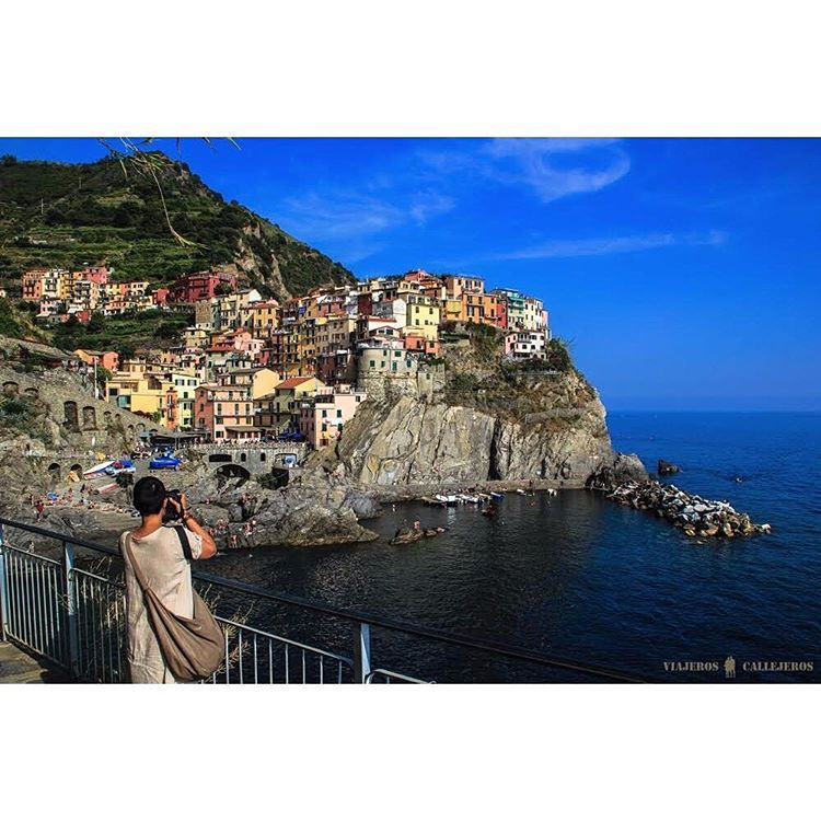 """What's the most photogenic location you've ever seen? Tag someone you'd love to see Cinque Terre with!  Photo by friend of #MatadorN @viajeroscallejeros.…"""