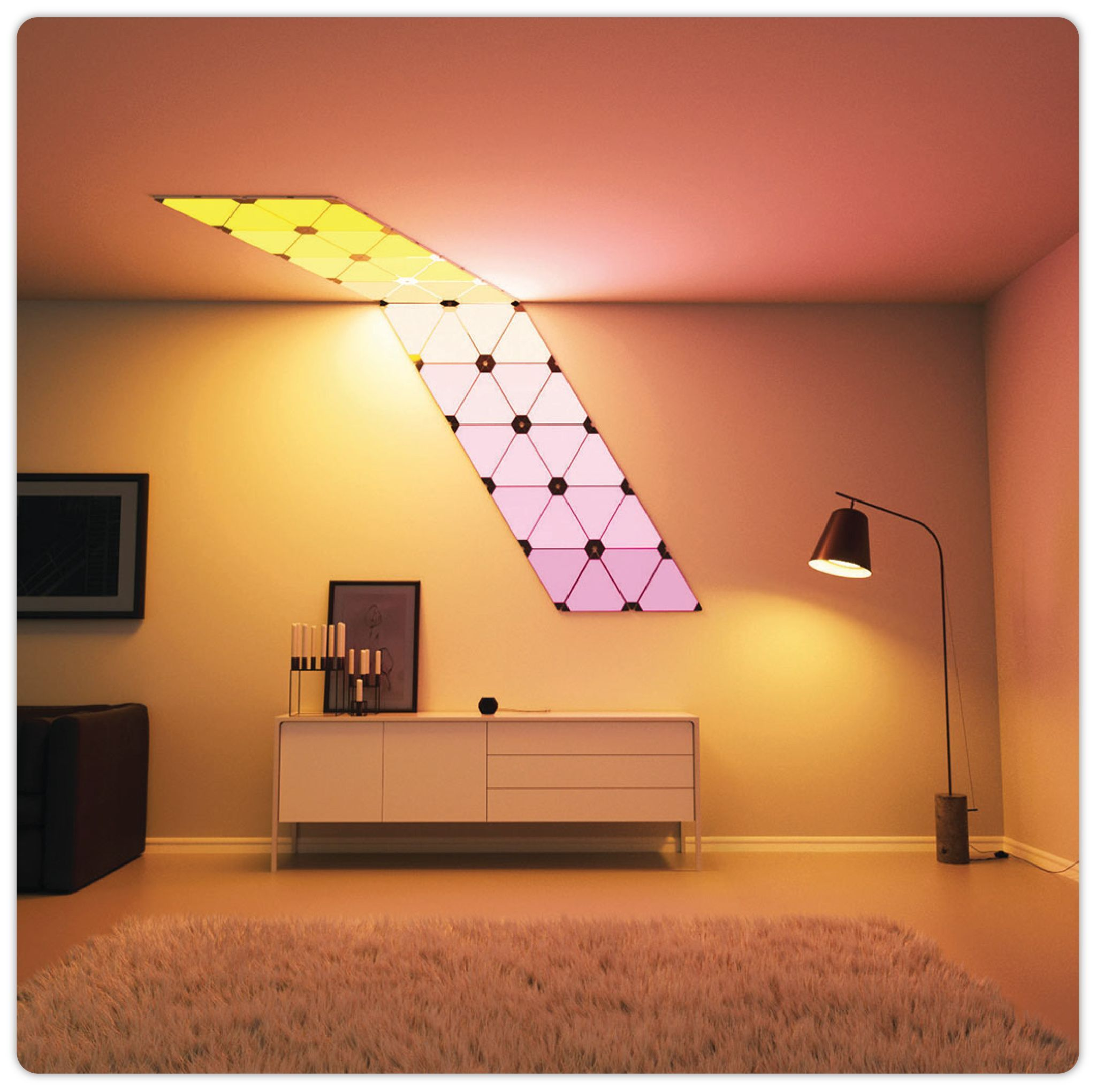 Creative Smart Led Light Panel Nanoleaf Aurora Light Panels Wall Lights