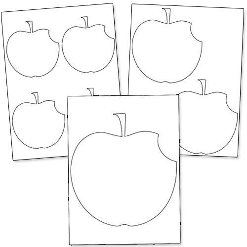 Printable Apple Shapes from PrintableTreats.com