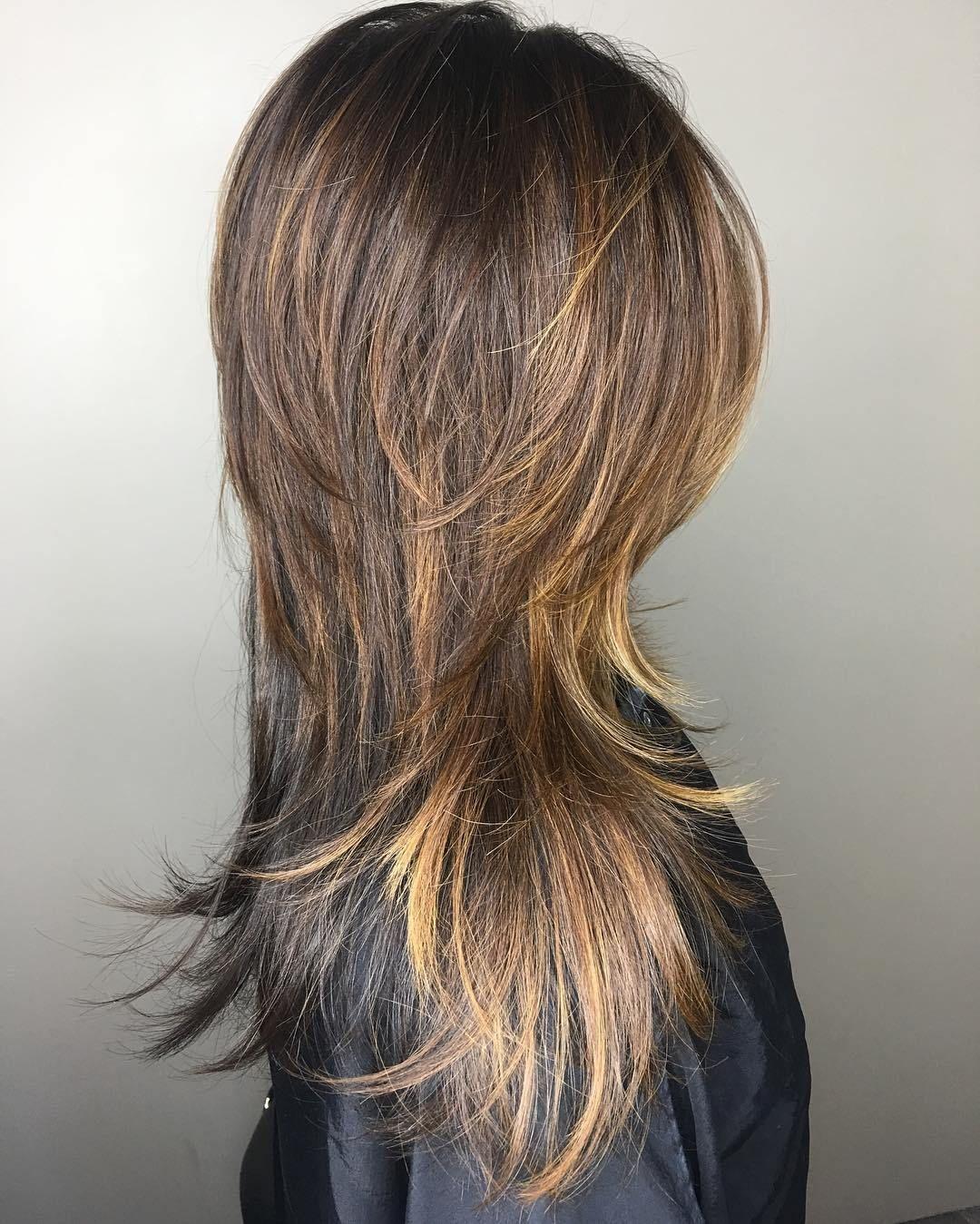 photo Long Shag haircuts with Movement