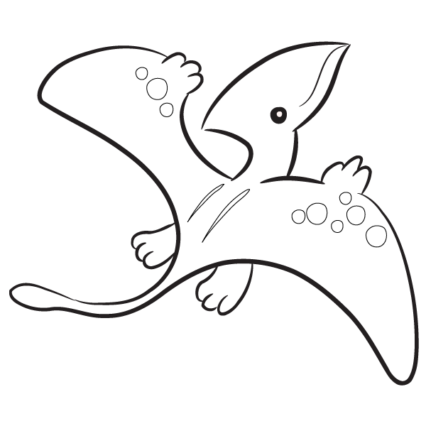 pterodactyl coloring pages Kawaii pteredactyl drawings | Pterodactyl Coloring Page  pterodactyl coloring pages