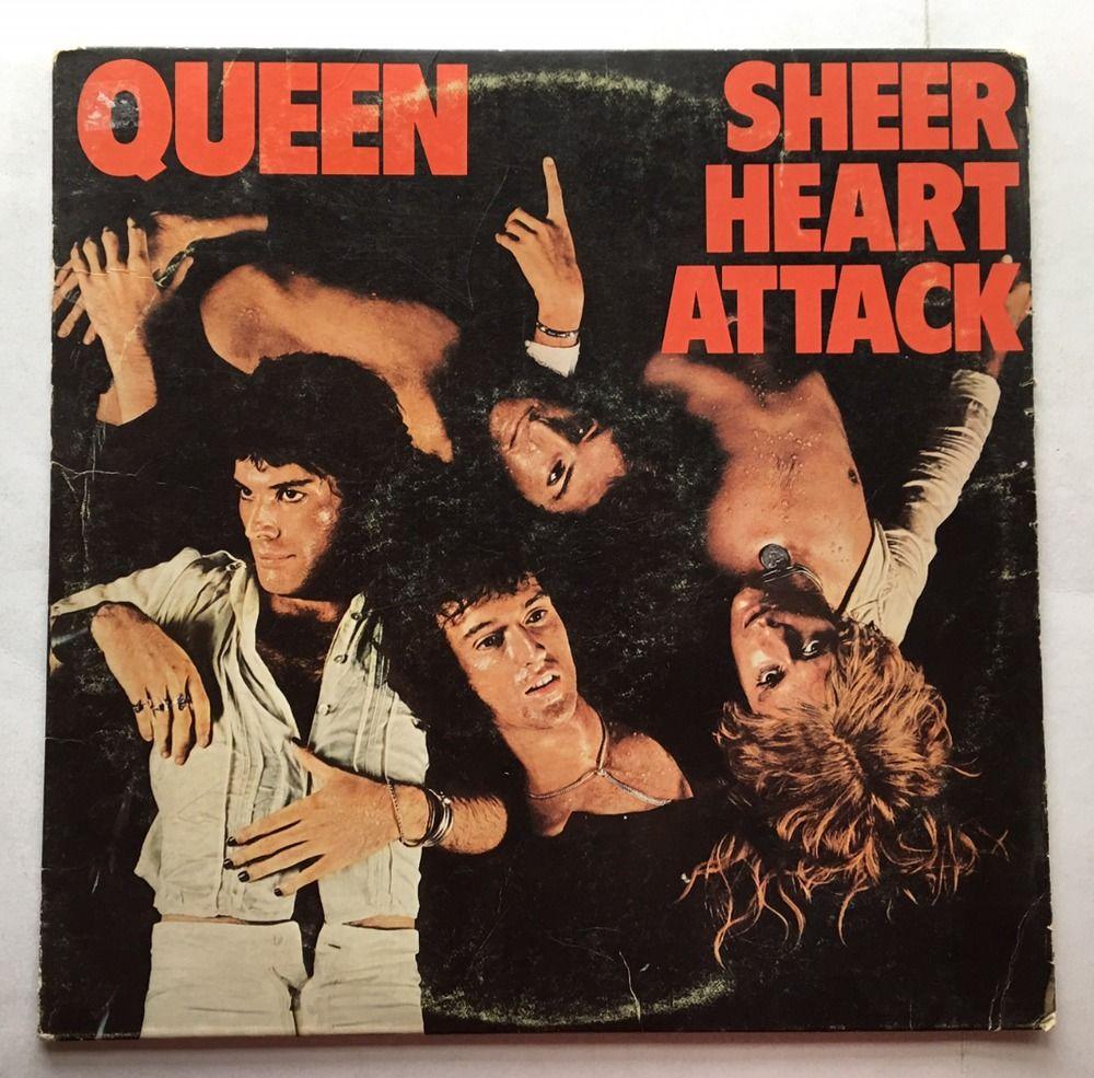 QUEEN SHEER HEART ATTACK VINYL 1974 ELEKTRA RECORDS FREE SHIPPING LP 7E-1026-A