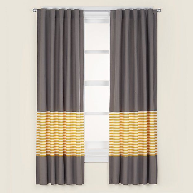 Not A Peep Yellow Stripe Curtains