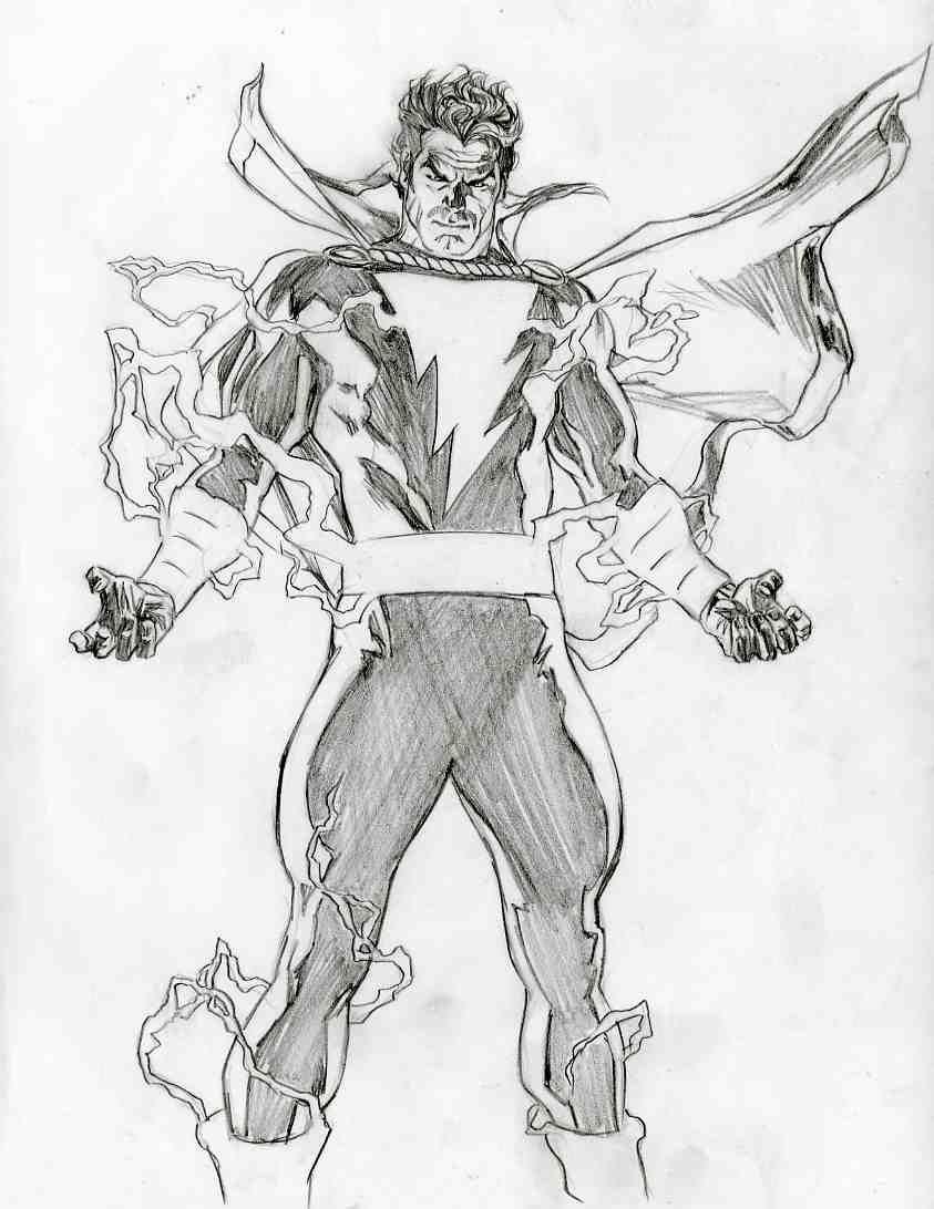 Alex Ross Unused Shazam Proposal 3 Comic Art Desenho Herois